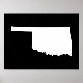 Oklahoma en blanco y negro posters