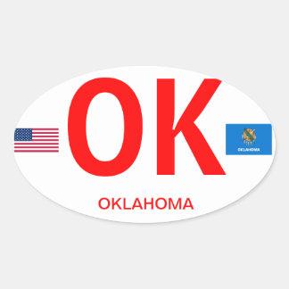 Oklahoma* Euro-style Oval Sticker