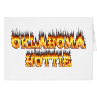 oklahoma fire and flames greeting card