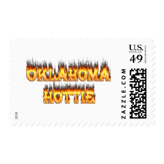 oklahoma fire and flames stamp
