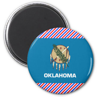 Oklahoma Flag 2 Inch Round Magnet