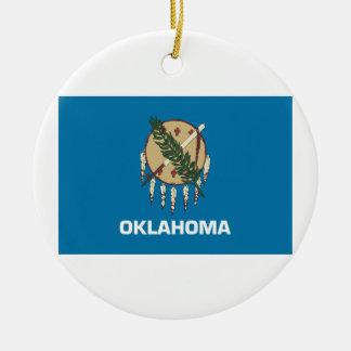 Oklahoma Flag Ceramic Ornament
