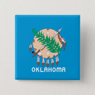 OKLAHOMA Flag Design - Pinback Button