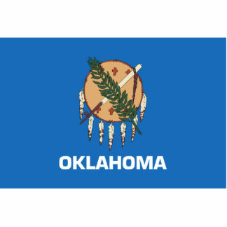 Oklahoma Flag Keychain Cut Out