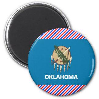 Oklahoma Flag 2 Inch Round Magnet