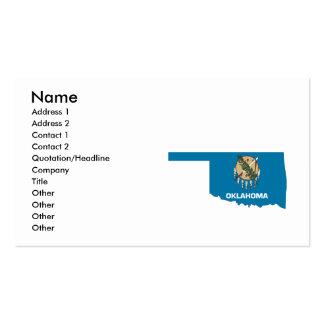 Oklahoma Flag Map Business Card
