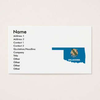 Oklahoma Flag Map Business Card