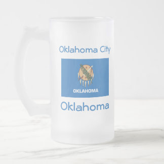 Oklahoma Flag Map City Mug