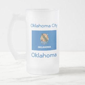 Oklahoma Flag Map City Mug