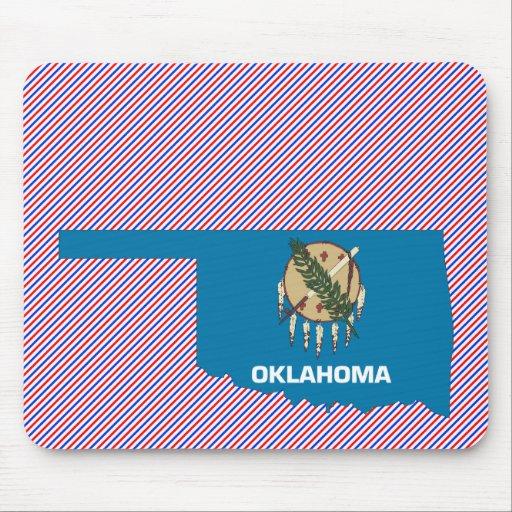 Oklahoma Flag Map Mouse Pads