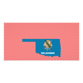 Oklahoma Flag Map Picture Card