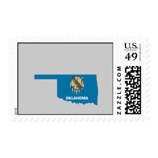 Oklahoma Flag Map Stamps