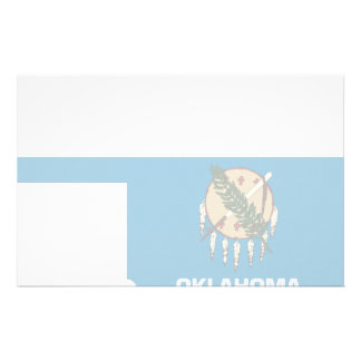 Oklahoma Flag Map Personalized Stationery