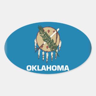 Oklahoma Flag Oval Sticker