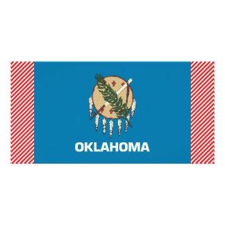 Oklahoma Flag Custom Photo Card