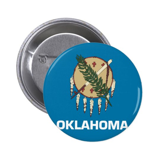 Oklahoma Flag Pinback Button