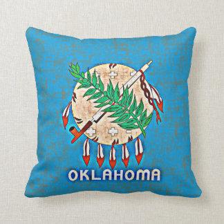 OKLAHOMA FLAG THROW PILLOW