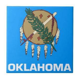 Oklahoma Flag Small Square Tile