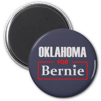 Oklahoma for Bernie 2 Inch Round Magnet