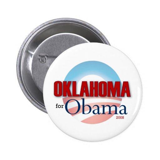 OKLAHOMA for Obama Pinback Button