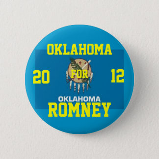 Oklahoma for Romney 2012 Button