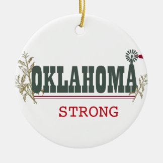 Oklahoma fuerte adorno redondo de cerámica