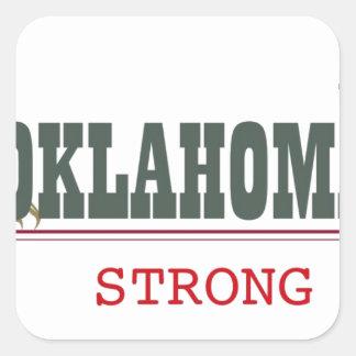 Oklahoma fuerte pegatina cuadrada