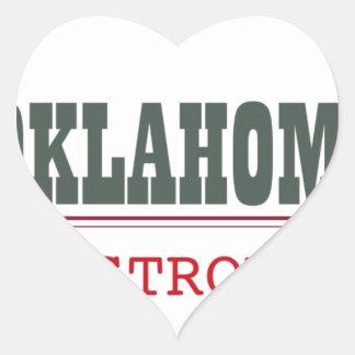 Oklahoma fuerte pegatina en forma de corazón