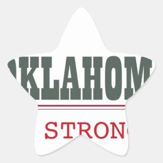 Oklahoma fuerte pegatina en forma de estrella