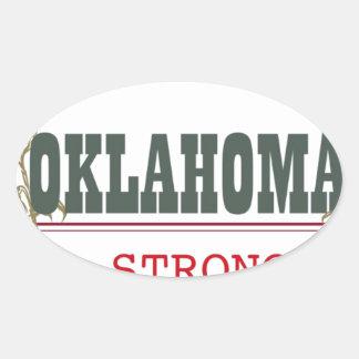 Oklahoma fuerte pegatina ovalada