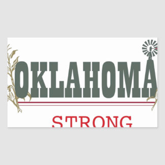Oklahoma fuerte pegatina rectangular