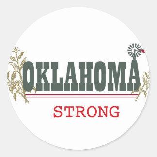 Oklahoma fuerte pegatina redonda