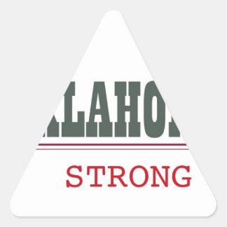 Oklahoma fuerte pegatina triangular