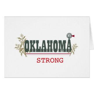 Oklahoma fuerte tarjeta de felicitación