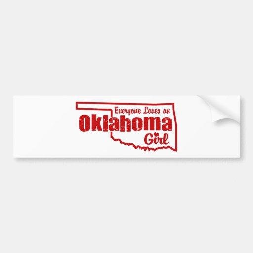Oklahoma Girl Car Bumper Sticker