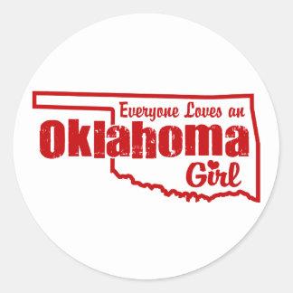 Oklahoma Girl Classic Round Sticker