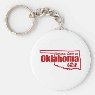 Oklahoma Girl Keychain