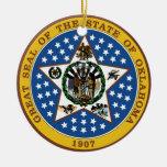 Oklahoma Great Seal Christmas Tree Ornaments