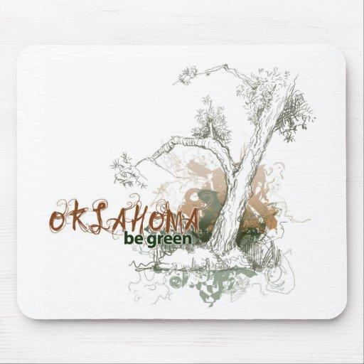 Oklahoma Green Tree Mousepad