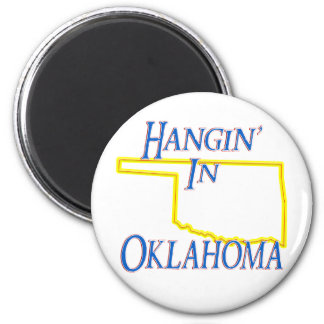 Oklahoma - Hangin' 2 Inch Round Magnet