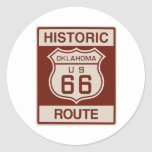 Oklahoma histórica RT 66 Etiquetas Redondas