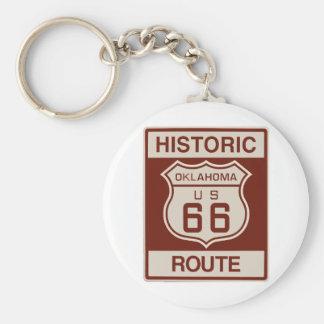 Oklahoma histórica RT 66 Llavero Redondo Tipo Pin
