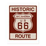 Oklahoma histórica RT 66 Postal