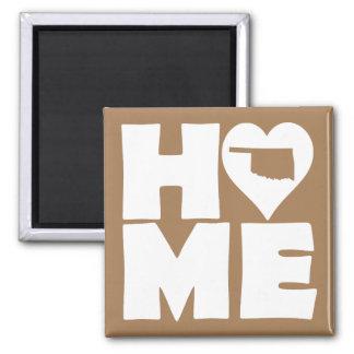 Oklahoma Home Heart State Fridge Magnet