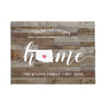 Oklahoma Home State Personalized Wood Look Doormat
