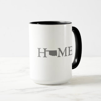 Oklahoma HOME State Word Art Mug