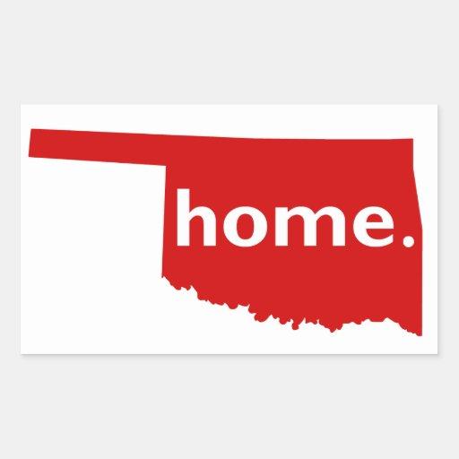 Oklahoma Home Rectangular Stickers