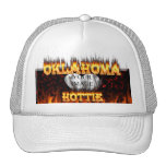 Oklahoma Hottie fire and red marble heart. Hats