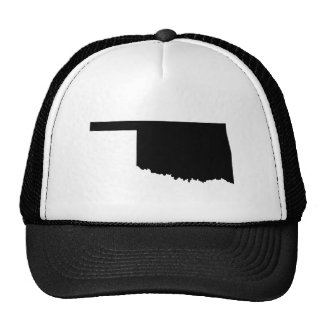 Oklahoma in Black and White Trucker Hats