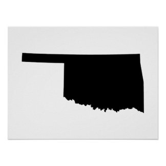 Oklahoma in Black and White Poster